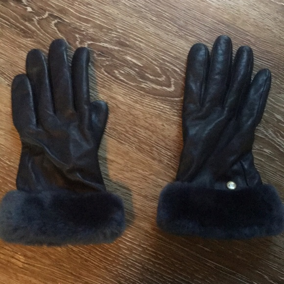159f8b0c4 UGG Accessories | Leather Gloves Womens Worn Once | Poshmark
